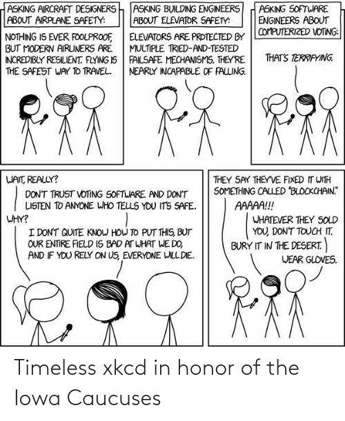 In Honor Of: Timeless xkcd in honor of the Iowa Caucuses