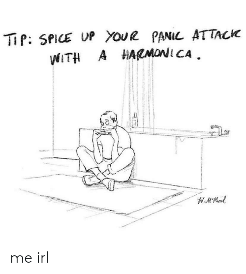 Youe: TiP: SPICE UP Youe PANIL ATTACK  WITH A HARMONI CA  W.MPheud me irl