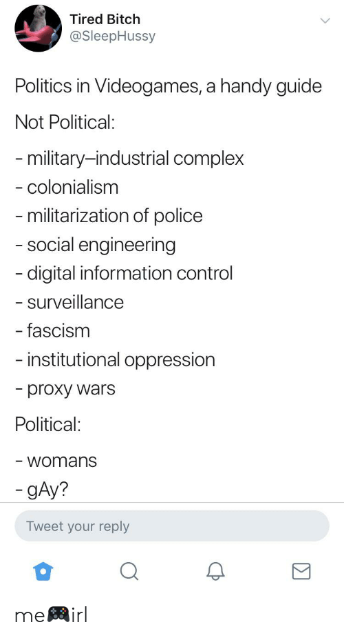 Tired Bitch Politics in Videogames a Handy Guide Not