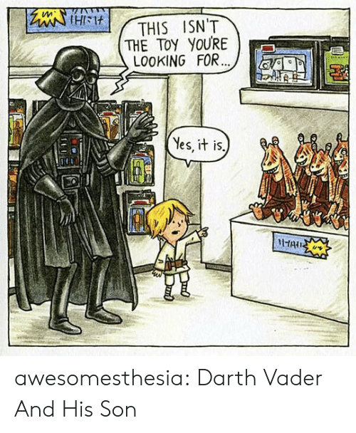 vader: tleiHIM  THE TOY YOURE  LO0KING FOR...  THIS ISN'T  Yes, it is.  HAIS awesomesthesia:  Darth Vader And His Son