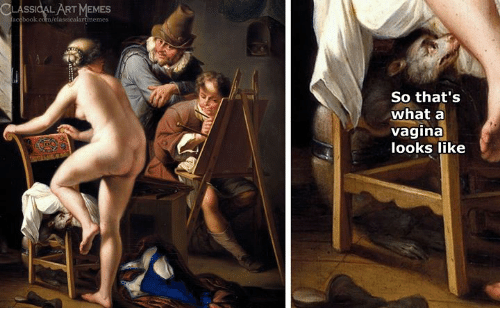 Vagina, Classical Art, and What: TMEMES  So that's  what a  vagina  looks like