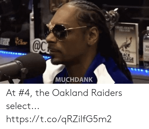 oakland: to  ACK  LEGE  MUCHDANK At #4, the Oakland Raiders select... https://t.co/qRZilfG5m2