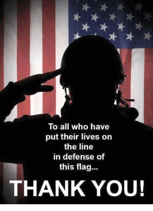 Memes, Thank You, and 🤖: To all who have  put their lives on  the line  in defense of  this flag..  THANK YOU!