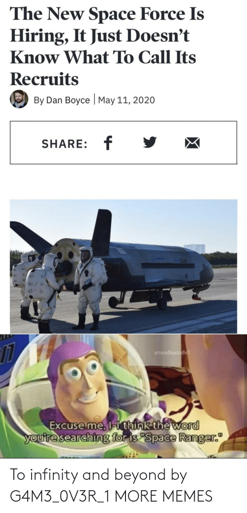 Infinity: To infinity and beyond by G4M3_0V3R_1 MORE MEMES