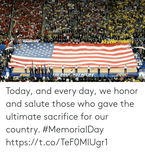 Gave: Today, and every day, we honor and salute those who gave the ultimate sacrifice for our country. #MemorialDay https://t.co/TeF0MlUgr1