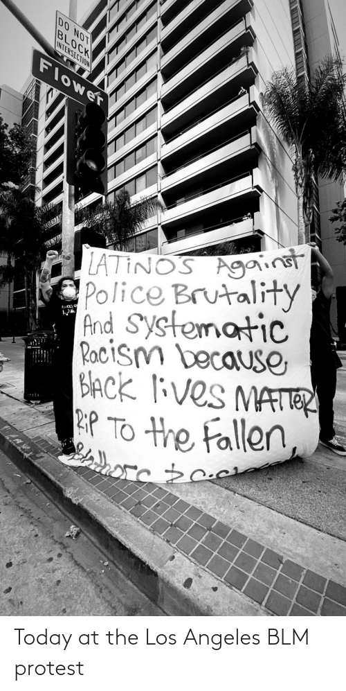 Protest: Today at the Los Angeles BLM protest