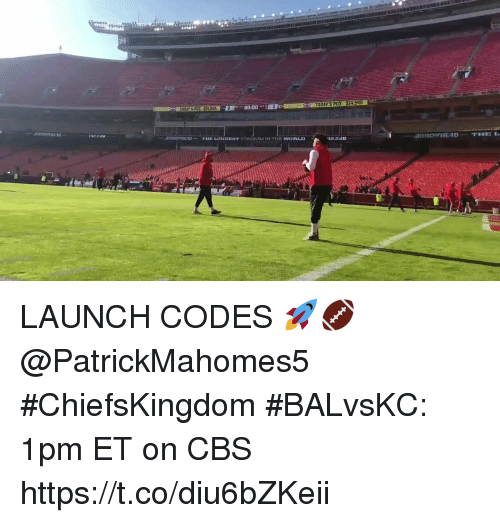 Memes, Cbs, and World: TODAY'S POD $14.545  UDAY S POT: $14545  IRROIr11E4D-  42.2 dB  -  THE LOUDIST STADIUM IN THE WORLD LAUNCH CODES 🚀🏈 @PatrickMahomes5 #ChiefsKingdom  #BALvsKC: 1pm ET on CBS https://t.co/diu6bZKeii