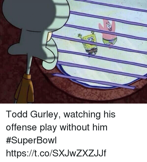 gurley: Todd Gurley, watching his offense play without him #SuperBowl https://t.co/SXJwZXZJJf
