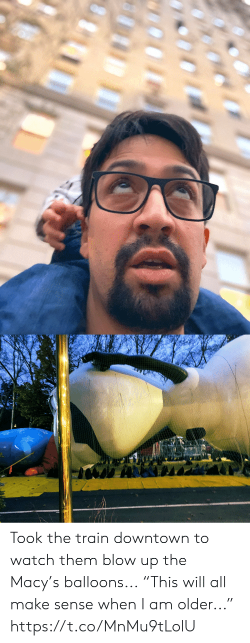 "Memes, Train, and Watch: Took the train downtown to watch them blow up the Macy's balloons... ""This will all make sense when I am older..."" https://t.co/MnMu9tLolU"