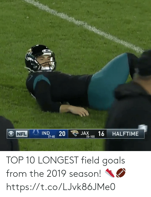 Season: TOP 10 LONGEST field goals from the 2019 season! 👟🏈 https://t.co/LJvk86JMe0