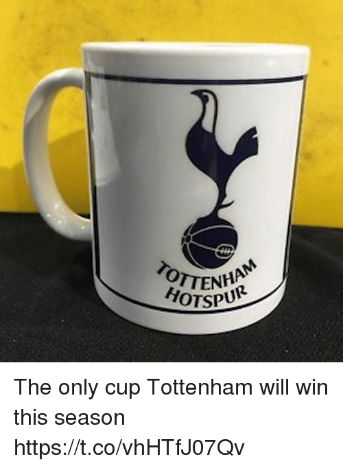 Memes, 🤖, and Tottenham: TOTTEN  ENHANM  HOTSPU The only cup Tottenham will win this season https://t.co/vhHTfJ07Qv
