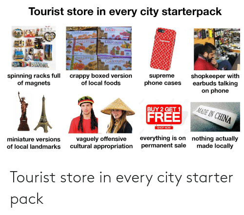 Tourist: Tourist store in every city starter pack