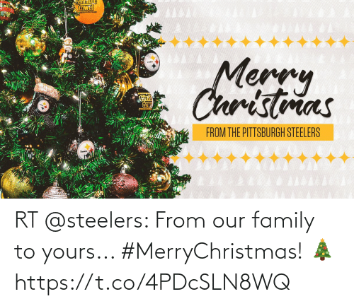 Pittsburgh Steelers: towel  Merry  Christmas  teri  towe  FROM THE PITTSBURGH STEELERS RT @steelers: From our family to yours... #MerryChristmas! 🎄 https://t.co/4PDcSLN8WQ