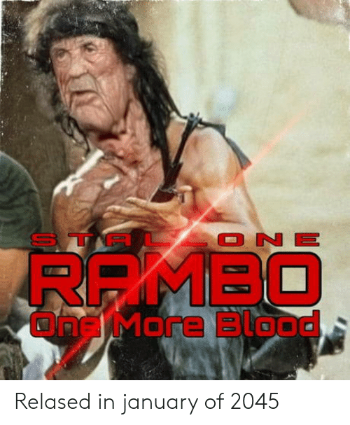 Blood, One, and More: TP  ONE  RRMBO  ONg More Blood Relased in january of 2045