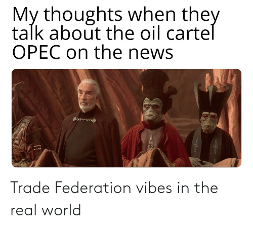 real world: Trade Federation vibes in the real world