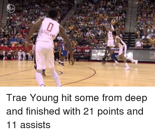 Deep, Hit, and Finished: Trae Young hit some from deep and finished with 21 points and 11 assists