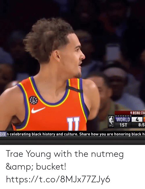Bucket: Trae Young with the nutmeg & bucket!    https://t.co/8MJx77ZJy6