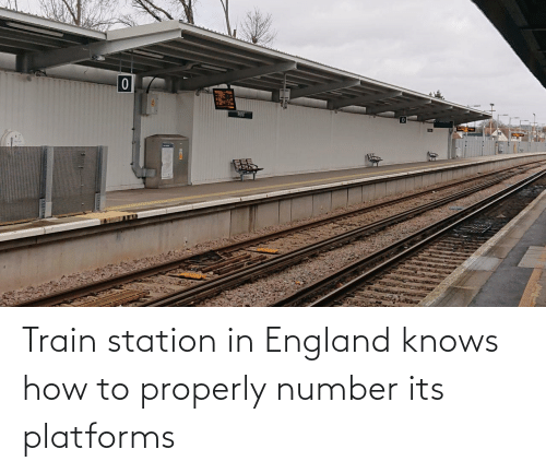 station: Train station in England knows how to properly number its platforms
