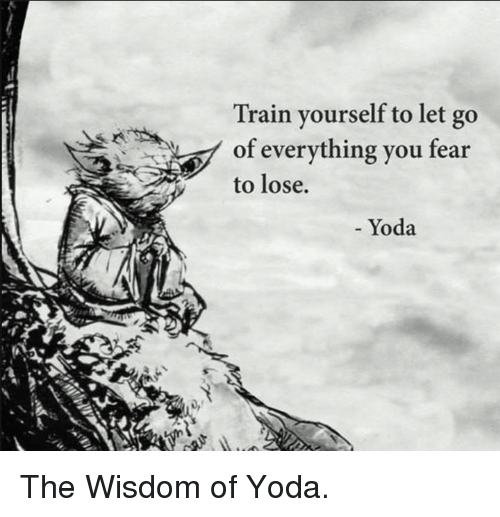 Memes, Yoda, and 🤖: Train yourself to let go  of everything you fear  to lose.  Yoda The Wisdom of Yoda.