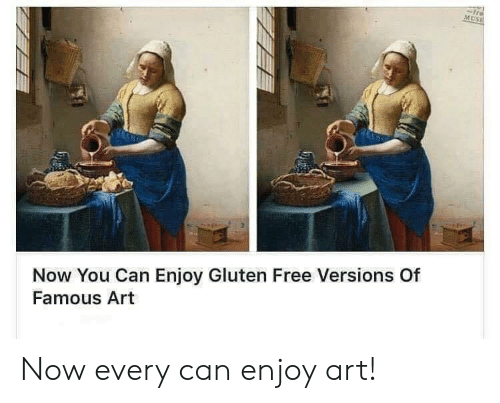 tre: tre  MUSE  Now You Can Enjoy Gluten Free Versions Of  Famous Art Now every can enjoy art!