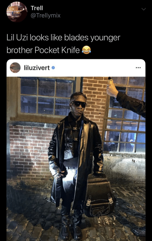 pocket: Trell  @Trellymix  Lil Uzi looks like blades younger  brother Pocket Knife  liluzivert •