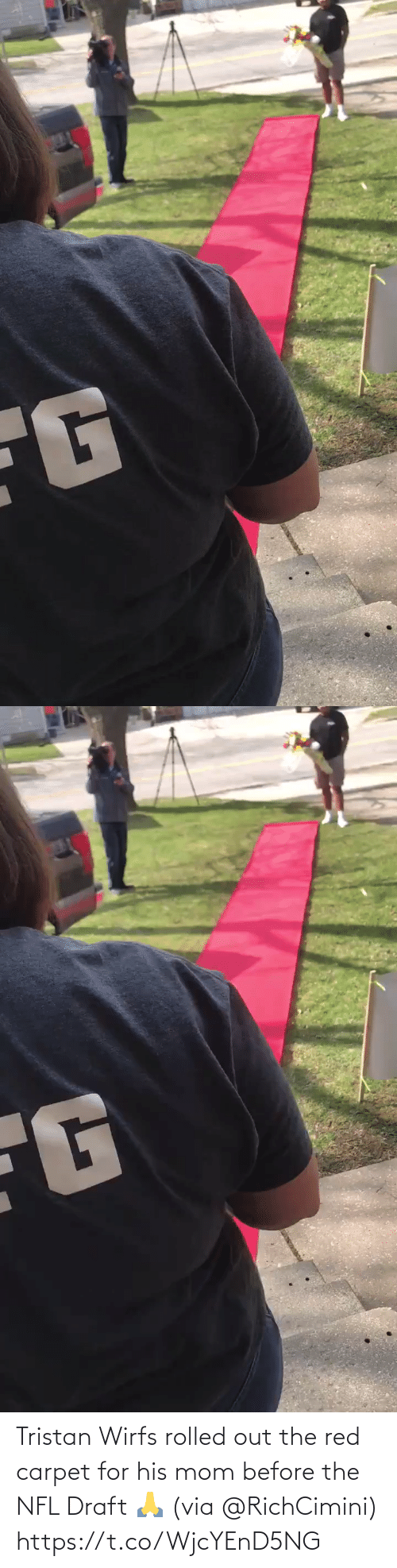 NFL draft: Tristan Wirfs rolled out the red carpet for his mom before the NFL Draft 🙏 (via @RichCimini) https://t.co/WjcYEnD5NG