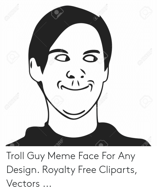 Any Design: Troll Guy Meme Face For Any Design. Royalty Free Cliparts, Vectors ...