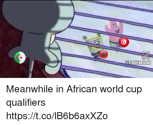 World Cup Qualifiers: @TrollFootball Meanwhile in African world cup qualifiers https://t.co/lB6b6axXZo
