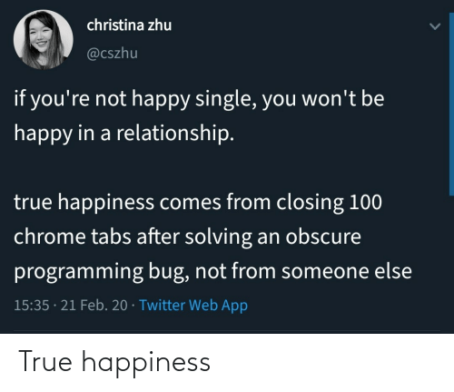 Happiness: True happiness
