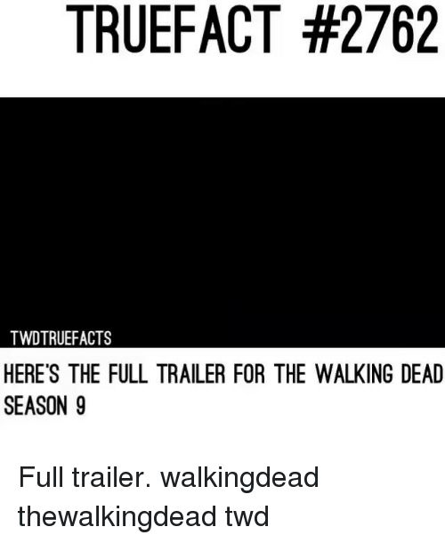 Memes, The Walking Dead, and Walking Dead: TRUEFACT #2762  TWDTRUEFACTS  HERE'S THE FULL TRAILER FOR THE WALKING DEAD  SEASON 9 Full trailer. walkingdead thewalkingdead twd