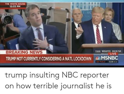nbc: trump insulting NBC reporter on how terrible journalist he is