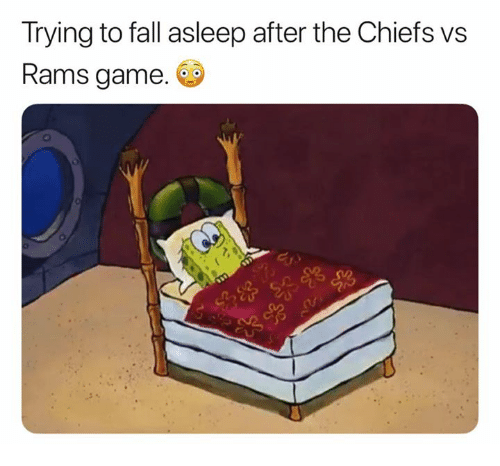 Fall, Nfl, and Chiefs: Trying to fall asleep after the Chiefs vs  Rams game.