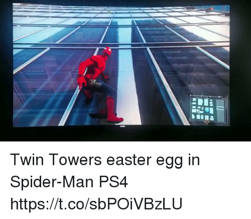 twin towers: Twin Towers easter egg in Spider-Man PS4 https://t.co/sbPOiVBzLU