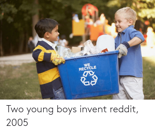 reddit: Two young boys invent reddit, 2005