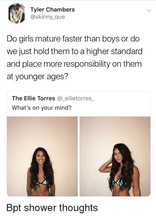 How Boys And Girls Mature