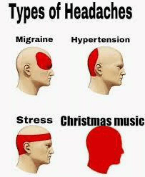 stress: Types of Headaches  Migraine  Hypertension  Stress Christmas music