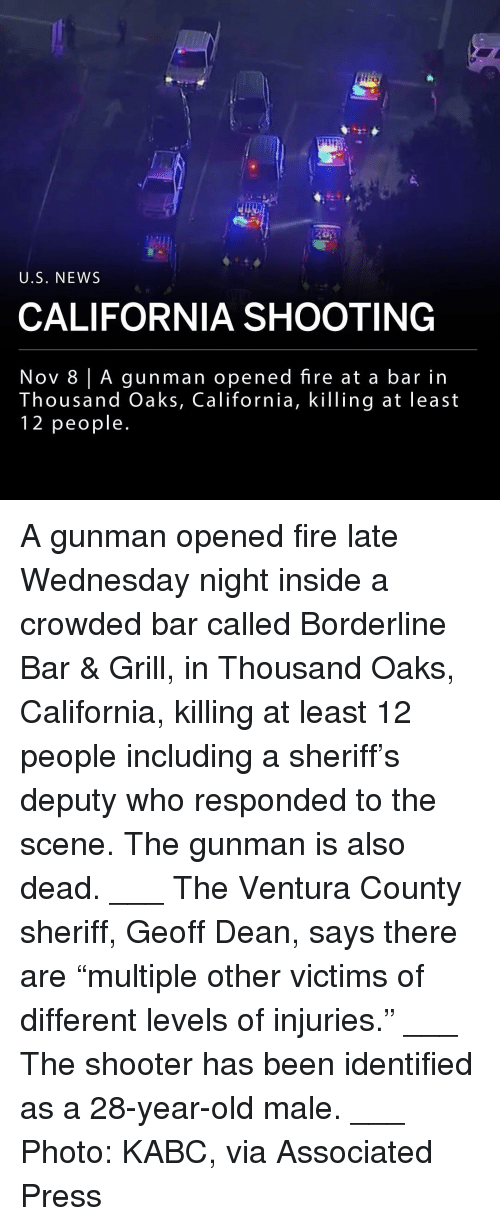 """Fire, Memes, and News: U.S. NEWS  CALIFORNIA SHOOTING  Nov 8 