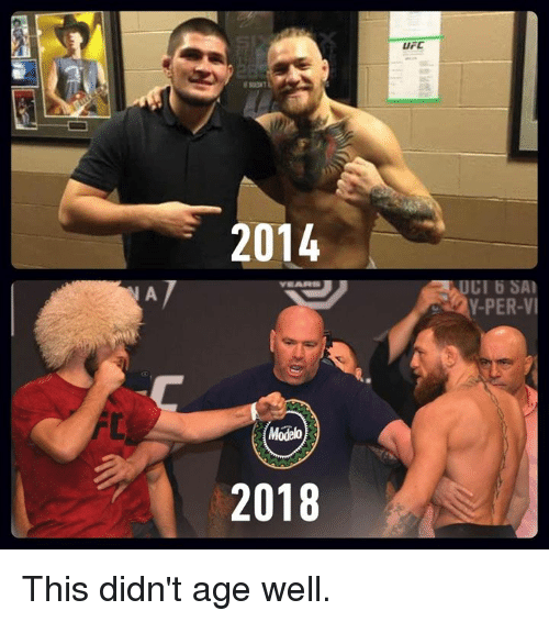 Dank, Ufc, and 🤖: UFC  2014  UCI 6 SA  Y-PER-VI  2018 This didn't age well.