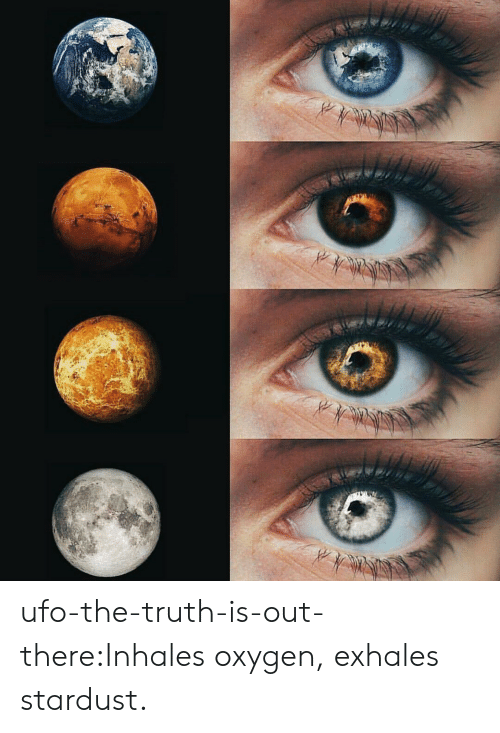 Target, Tumblr, and Blog: ufo-the-truth-is-out-there:Inhales oxygen, exhales stardust.