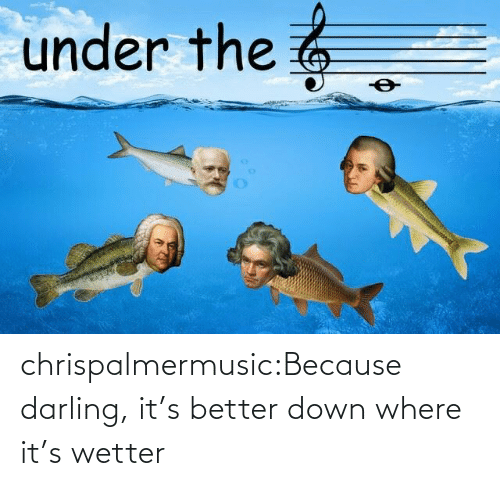 Tumblr, Blog, and Com: under the 6 chrispalmermusic:Because darling, it's better down where it's wetter