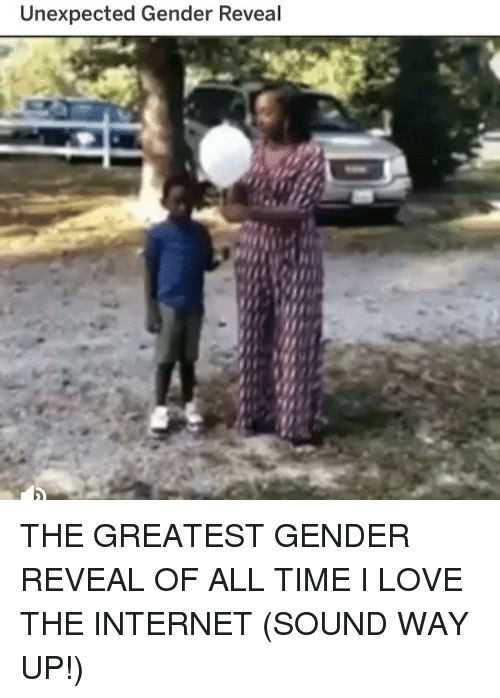 Funny, Internet, and Love: Unexpected Gender Reveal THE GREATEST GENDER REVEAL OF ALL TIME I LOVE THE INTERNET (SOUND WAY UP!)