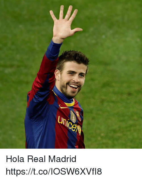 Memes, Real Madrid, and 🤖: unice Hola Real Madrid https://t.co/IOSW6XVfI8
