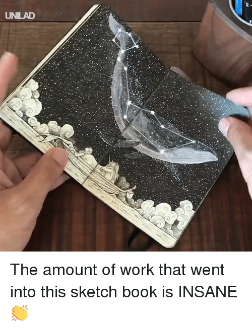 Dank, Work, and Book: UNILAD The amount of work that went into this sketch book is INSANE 👏