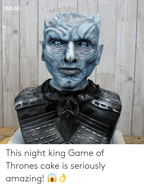 Dank, Game of Thrones, and Cake: UNILAD This night king Game of Thrones cake is seriously amazing! 😱👌
