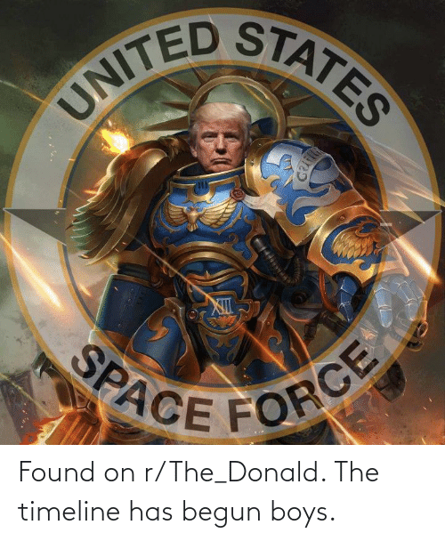 Tix: UNITED STATES  TIX  SPACE FORCE Found on r/The_Donald. The timeline has begun boys.