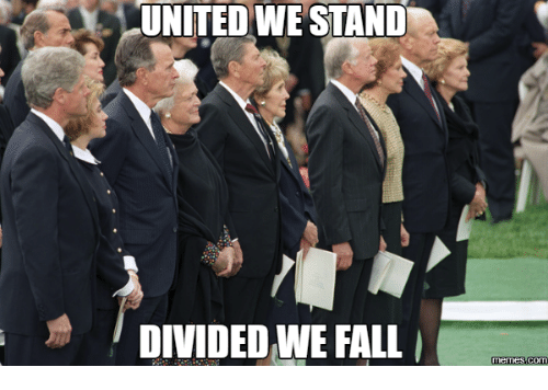 Fall Meme: UNITED WE STAND  DIVIDED WE FALL  Memes