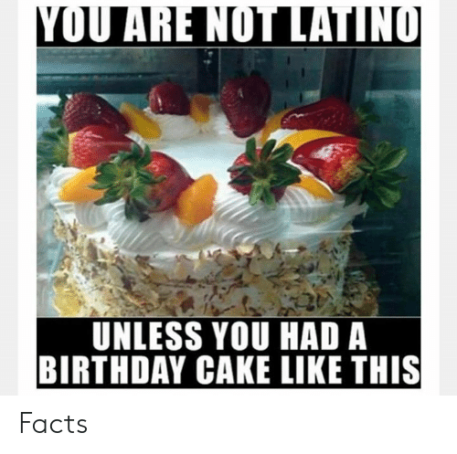 Birthday, Facts, and Memes: UNLESS YOU HAD A  BIRTHDAY CAKE LIKE THIS Facts