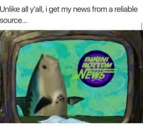 I Get My News From A Reliable Source: Unlike all y'all, i get my news from a reliable  source.  BKINI  ED