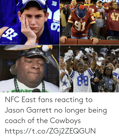 Dallas Cowboys: uol  FanDuel  @NFL_MEMES NFC East fans reacting to Jason Garrett no longer being coach of the Cowboys https://t.co/ZGj2ZEQGUN