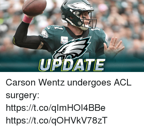 acl: UPDATE Carson Wentz undergoes ACL surgery: https://t.co/qImHOI4BBe https://t.co/qOHVkV78zT